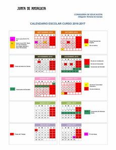 Calendario Oposiciones 2019 Andalucia.Calendario Escolar