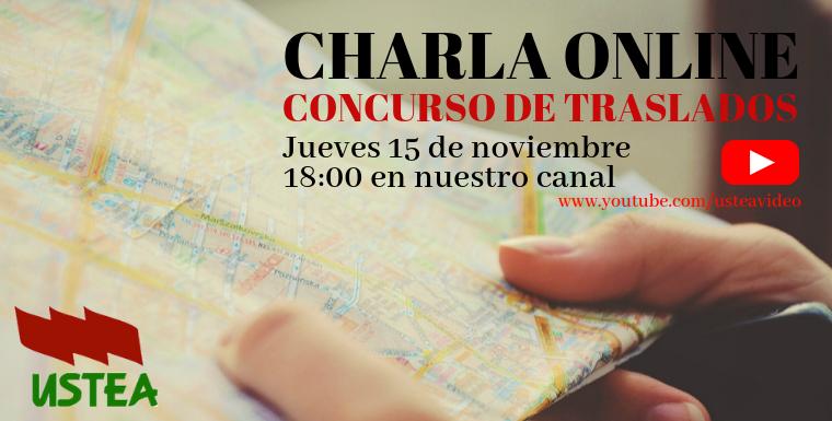 Charla online sobre el Concurso de Traslados 2018-2019 el jueves 15 de noviembre