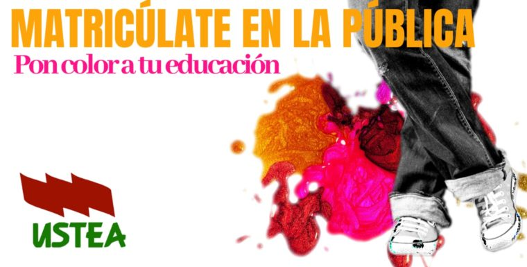 Pon color a tu educación. ¡Matricúlate en la Pública!
