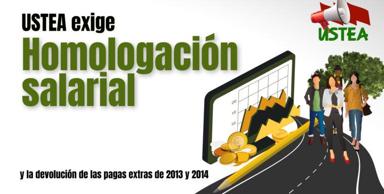 USTEA exige homologación salarial y la devolución de las pagas extras de 2013 y 2014